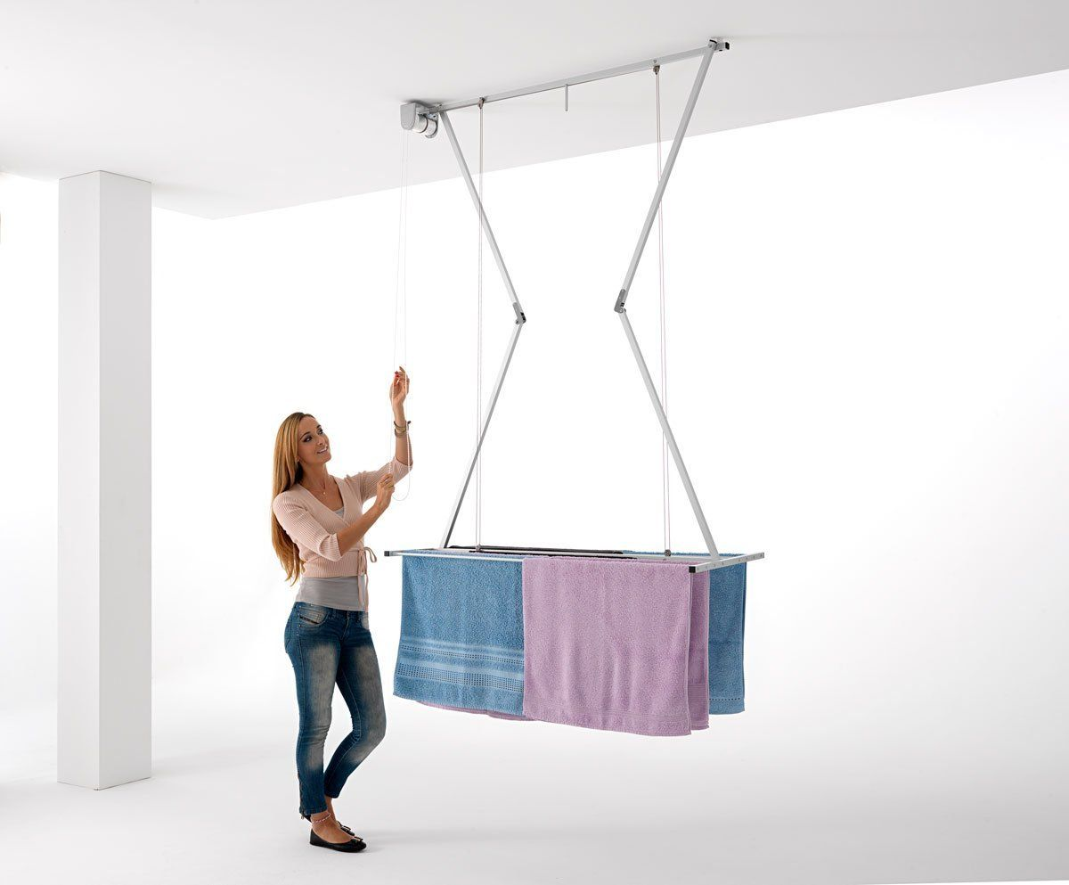 Ceiling Mounted Pulley Clothes Airer Clothes Drying Rack