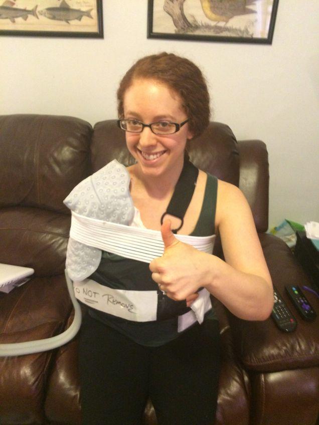the first week post op shoulder surgery pinterest shoulder