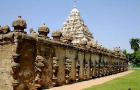 Kailasanathar Tempel in Kanchipuram (Tamil Nadu), Teil der Indienreise http://www.mahatravel.com/klassiker_suedindien-kultur-und-erholung