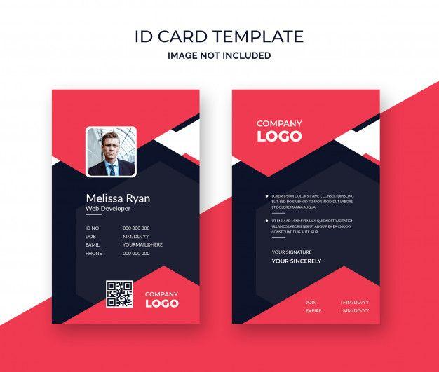 professional id card template  id card template card