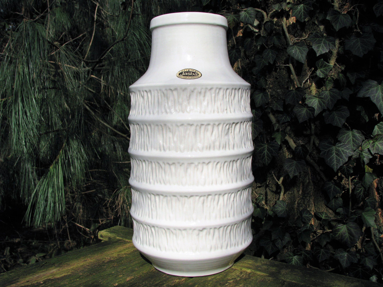 60er Jahre Vase Jasba 1 529 45 Label Vintage Keramik West