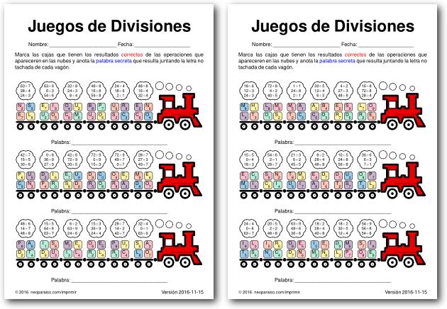 Juegos De Divisiones Juegos De Divisiones Juegos De Matemáticas Ejercicios De Divisiones