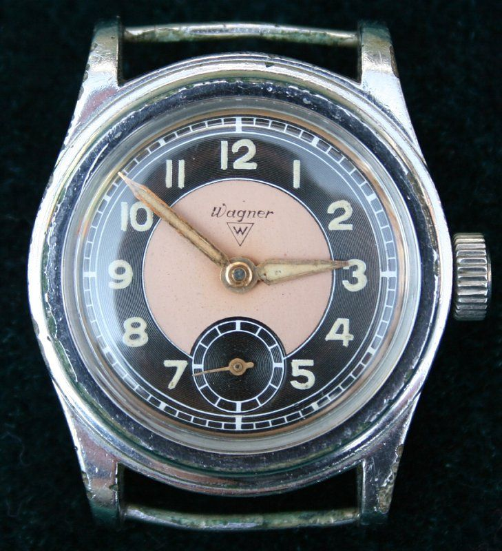 Uhr Des Pforzheimer Uhrenherstellers Ernst Wagner Mit Einem