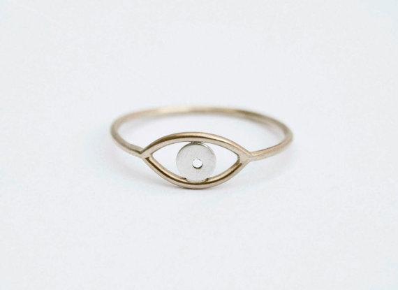 Gold Evil Eye Ring.
