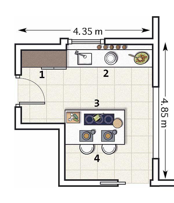 Plano cocina light starts pinterest planos for Planos para hacer una cocina integral