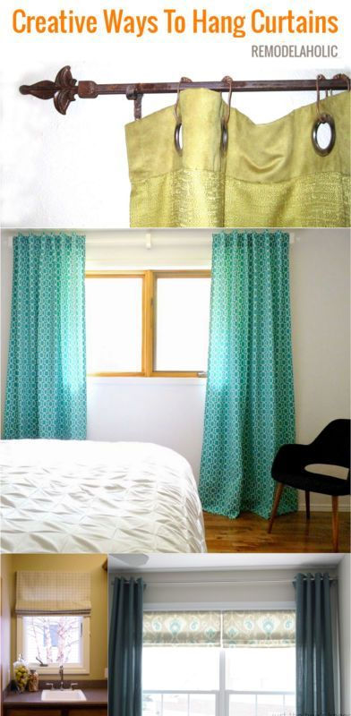 Dress Up Those Bare Windows With Some Beautiful Curtains And Creative Hanging Options That Will Look Great While Saving You Money Spon