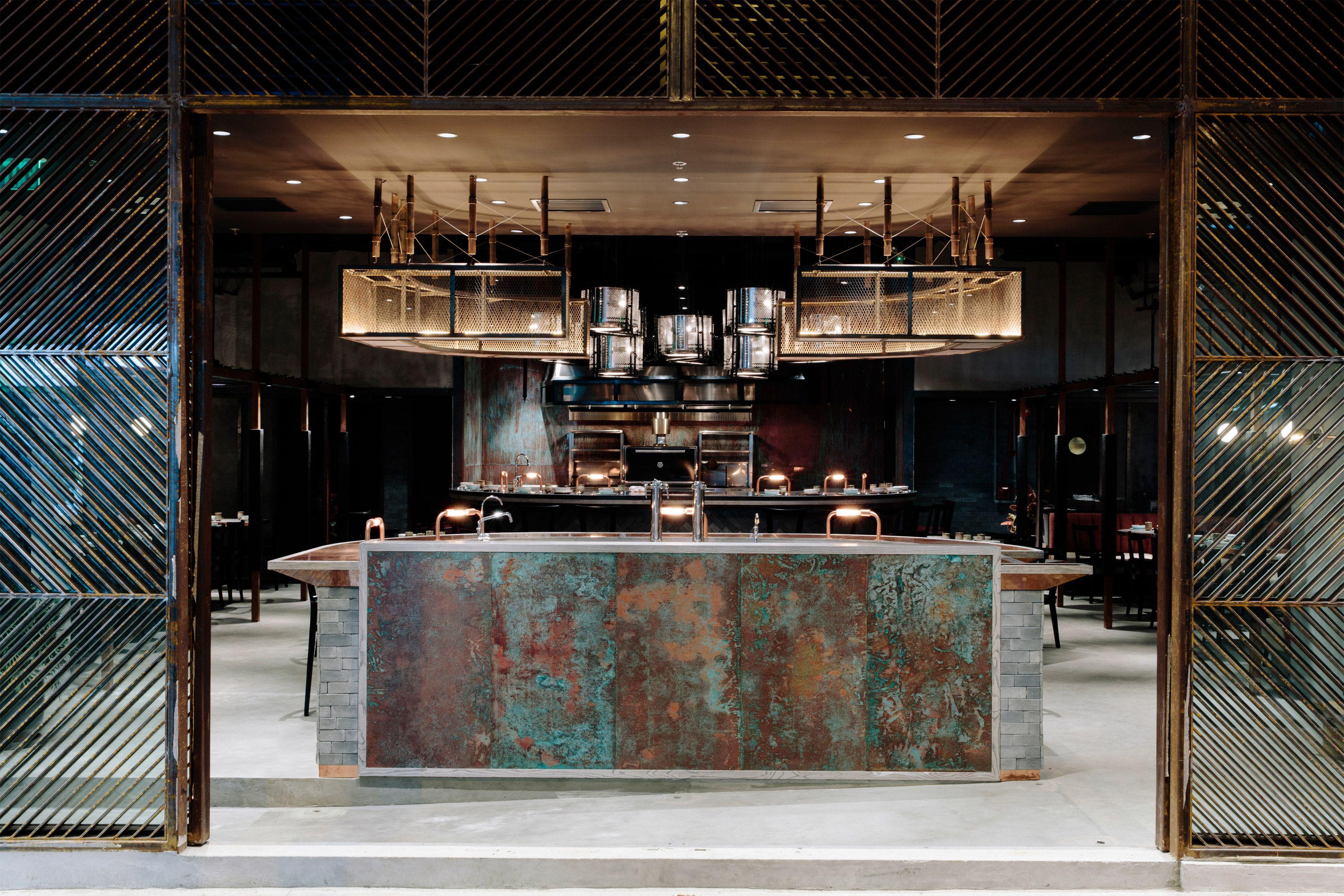 Küchen design hotel rhoda restaurant by joyce wang studio  zukünftige projekte