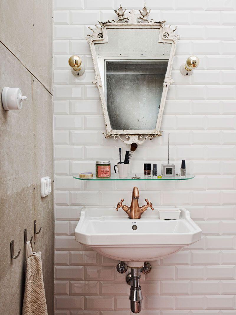 Cuarto de baño en un mini loft vintage- industrial | Fürdőszoba ...