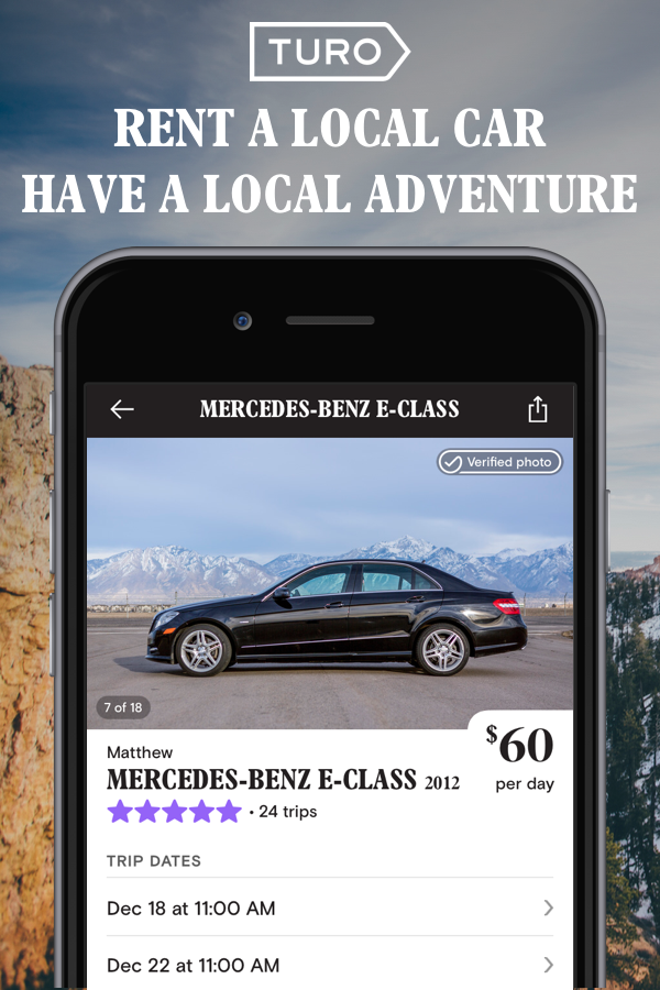 Rent a car that's part of the local economy, not a