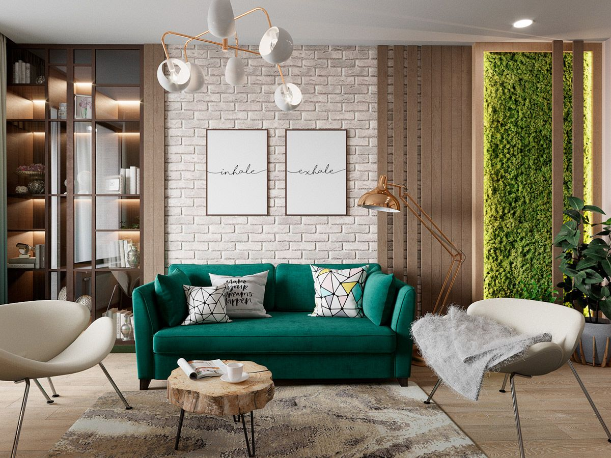 Scandinavian Style Interior Infused With Garden Greenery Living Room Scandinavian Scandinavian Style Interior Interior Design Living Room