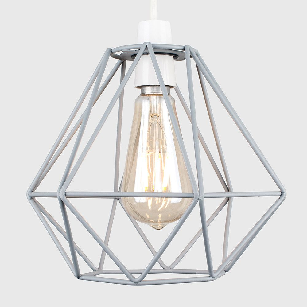 Pair Of Diablo Pendant Shades In Grey Iconic Lights Pendant