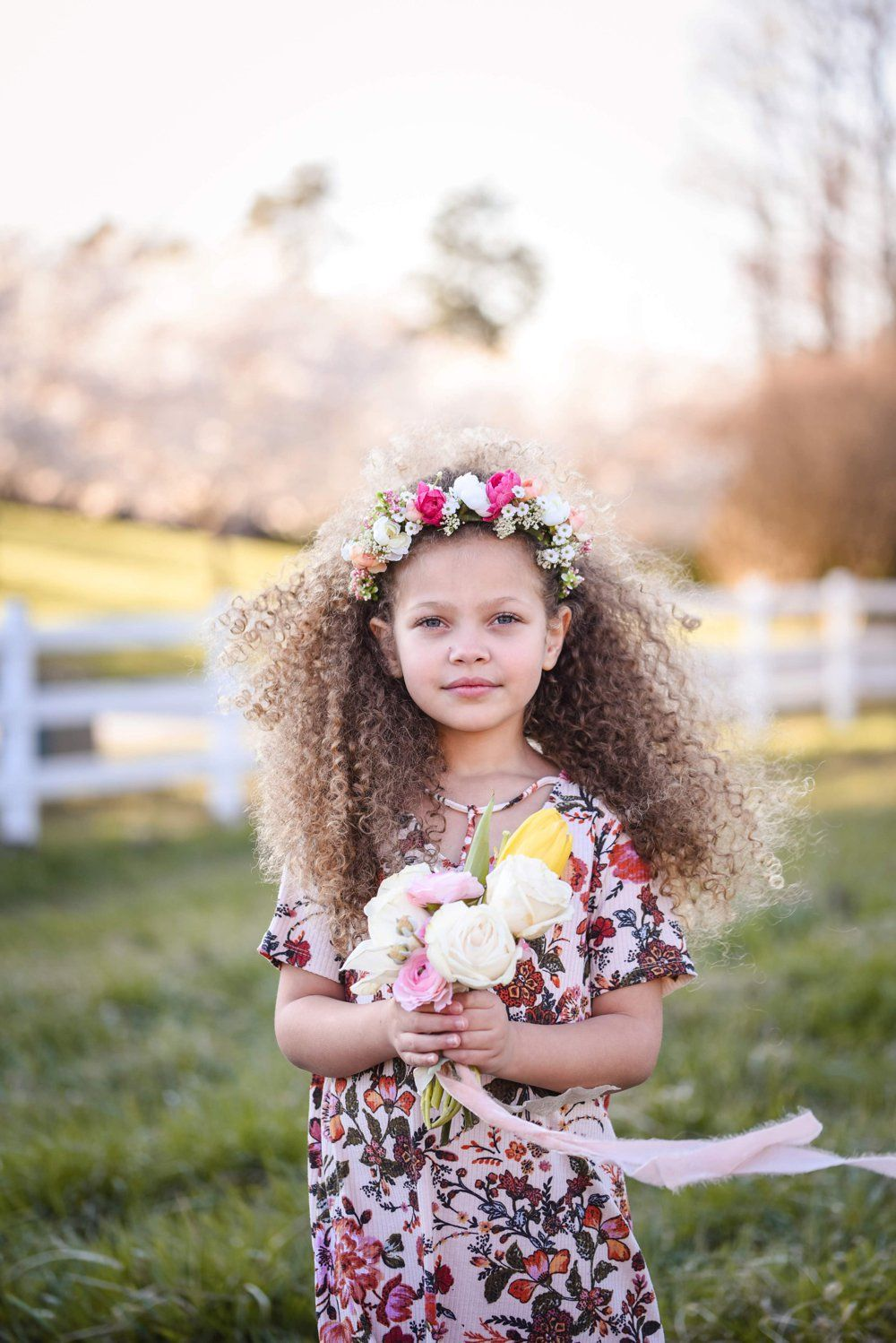 Flower Princesses in an Enchanted Meadow A PRINCESS