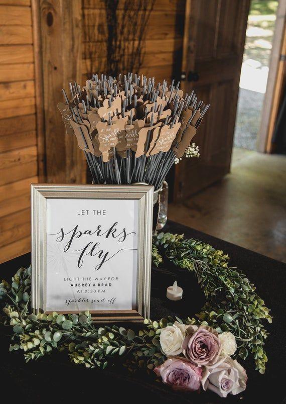 Hochzeit Wunderkerze Tag-Set von 24-Wunderkerze Ärmel, benutzerdefinierte Wunderkerze Tags, einzigartige Wunderkerze Tags, Wunderkerze senden aus   – wedding decorations