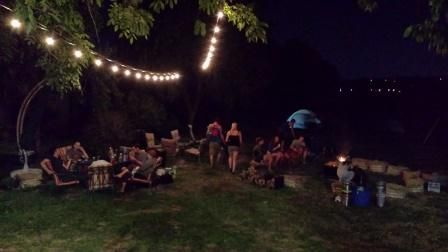 An evening party around the fire pit. Heart of Rock DJ / Farm - Outdoors Photos