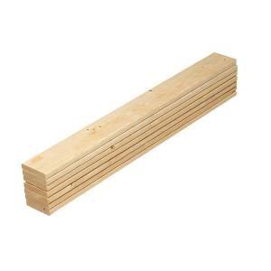 1 In X 4 In X 4 5 Ft Pine Full Bed Slat Board 7 Pack 231574