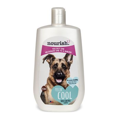 Keep your pet's coat strong and smooth while helping to prevent shedding with Nourish Shed Control Shampoo.