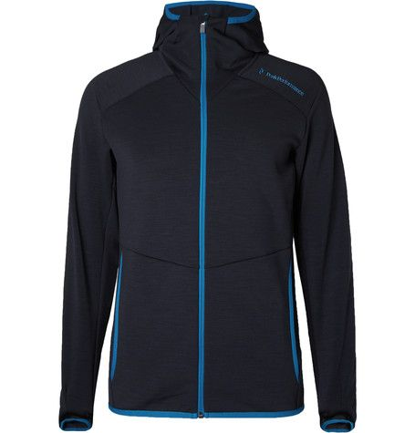 defccf6be0d PEAK PERFORMANCE Heli Stretch-Jersey Hooded Mid-Layer. #peakperformance  #cloth #jackets