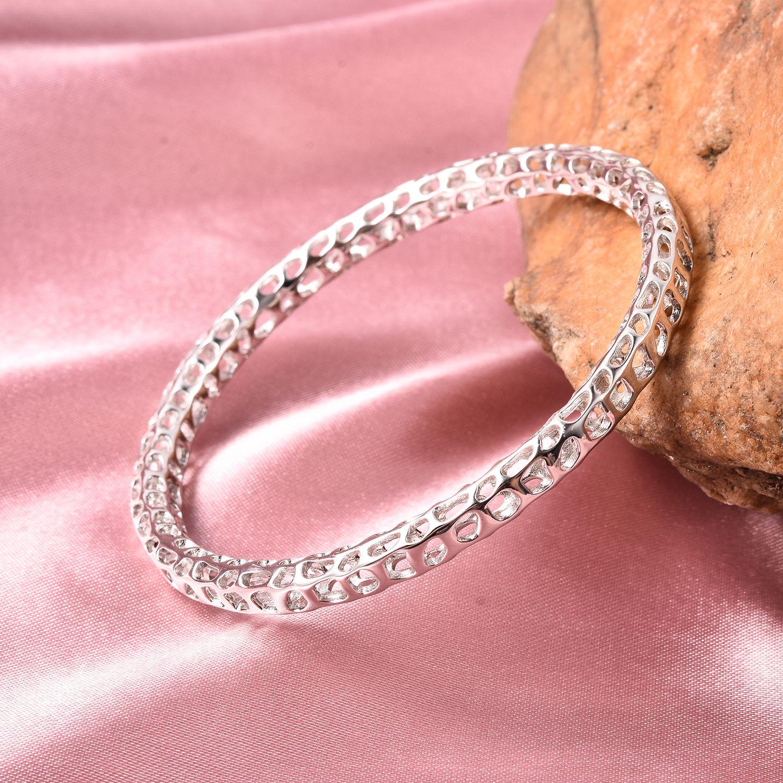 "RACHEL GALLEY Allegro Bangle for Women Sterling Silver Size 8/"""