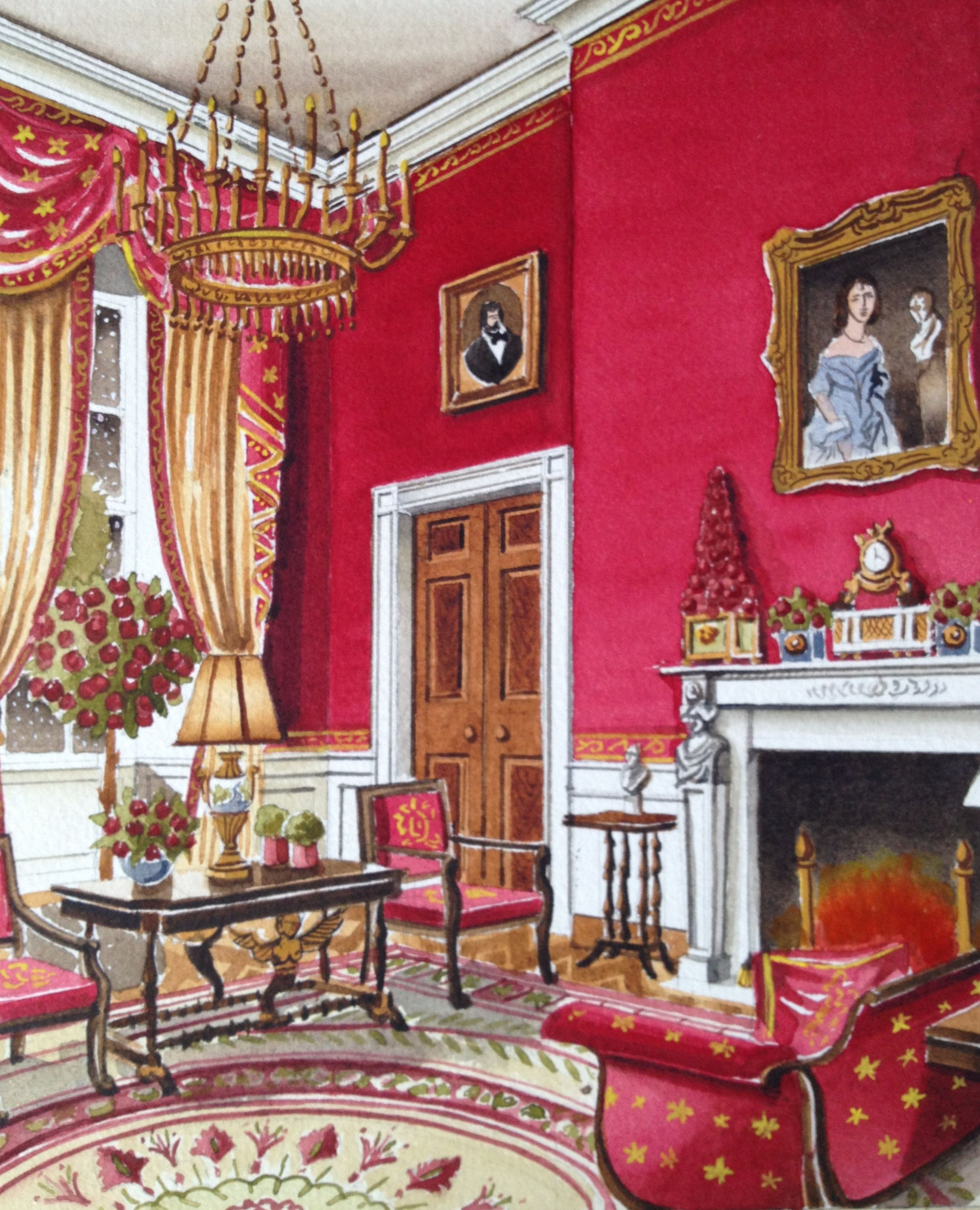 Red Room: The White House Red Room By Michael Hampton