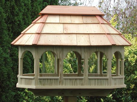 Making A Bird Feeder Will Encourage Birds To Become Regular Visitors To Your Garden Especially During Wi Large Bird Houses Bird House Plans Large Bird Feeders