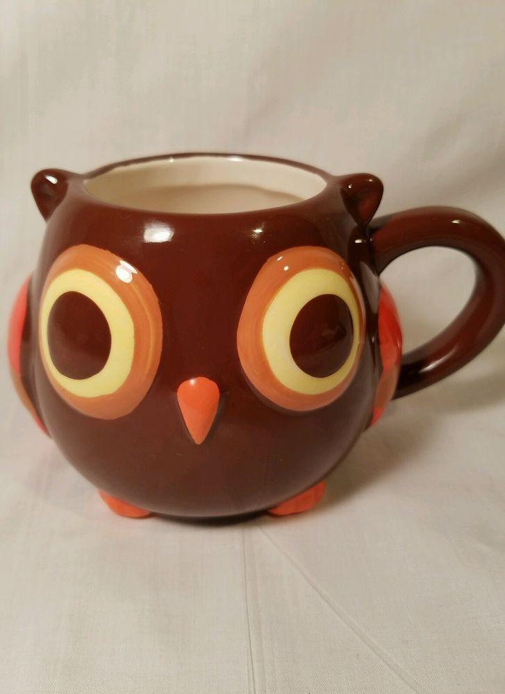 Details about mesa home products mesa owl 14 oz coffee mug