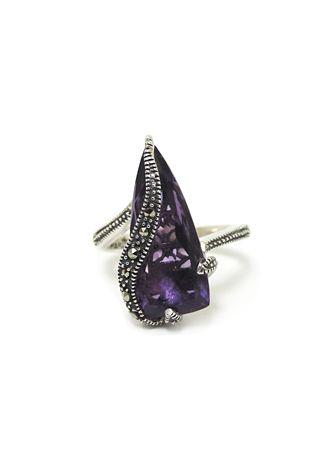 MARC Sterling Silver Purple Quartz Marcasite Ring $59