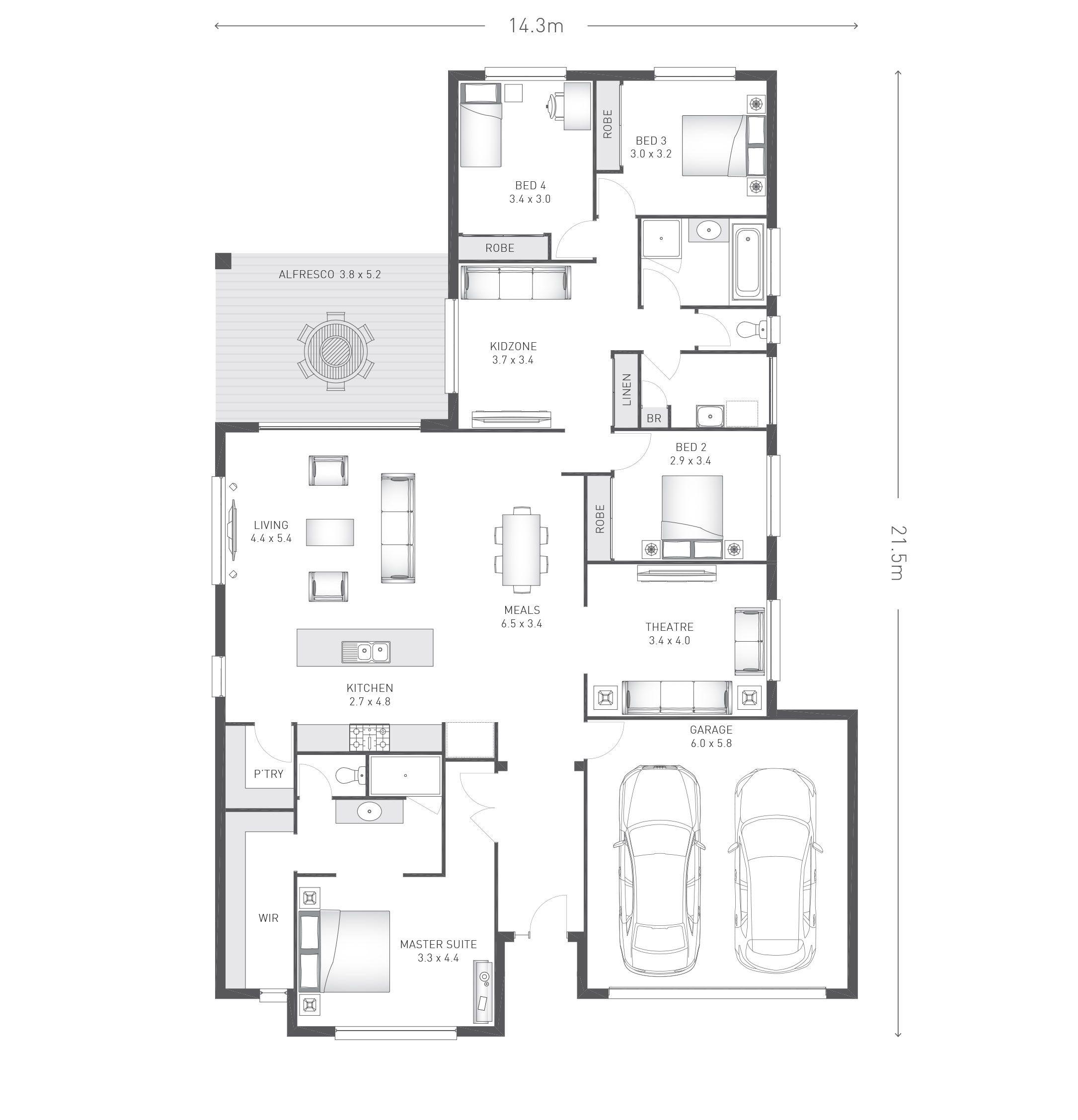 Denham 27 plan Ausbuild maison Pinterest