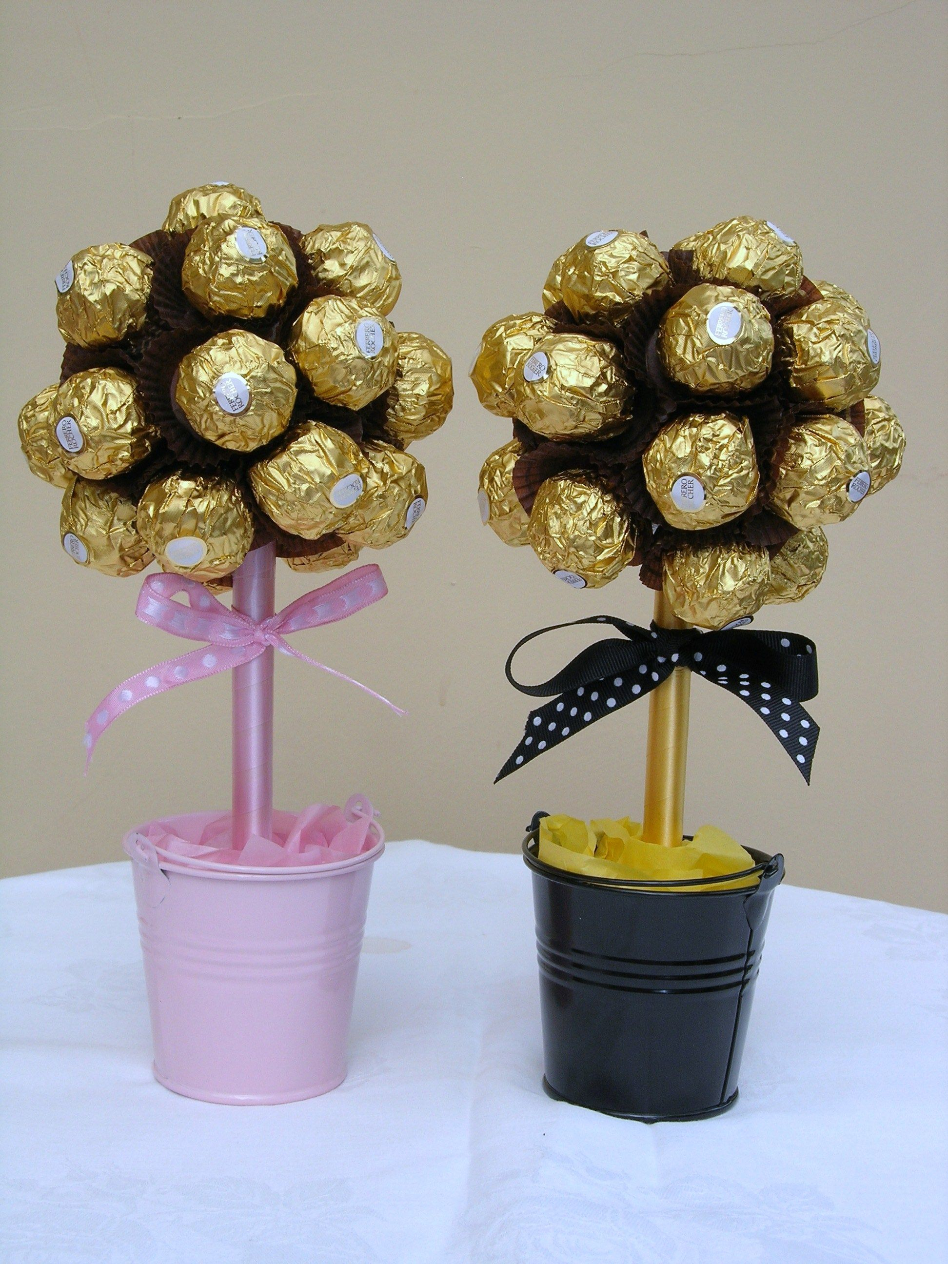 Mini Ferrero Trees Candy gifts, Sweet trees, Candy bouquet