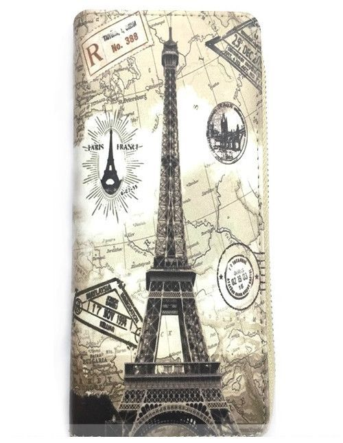 Eiffel Tower Paris France Leatherette Bi-Fold Fashion Wallet