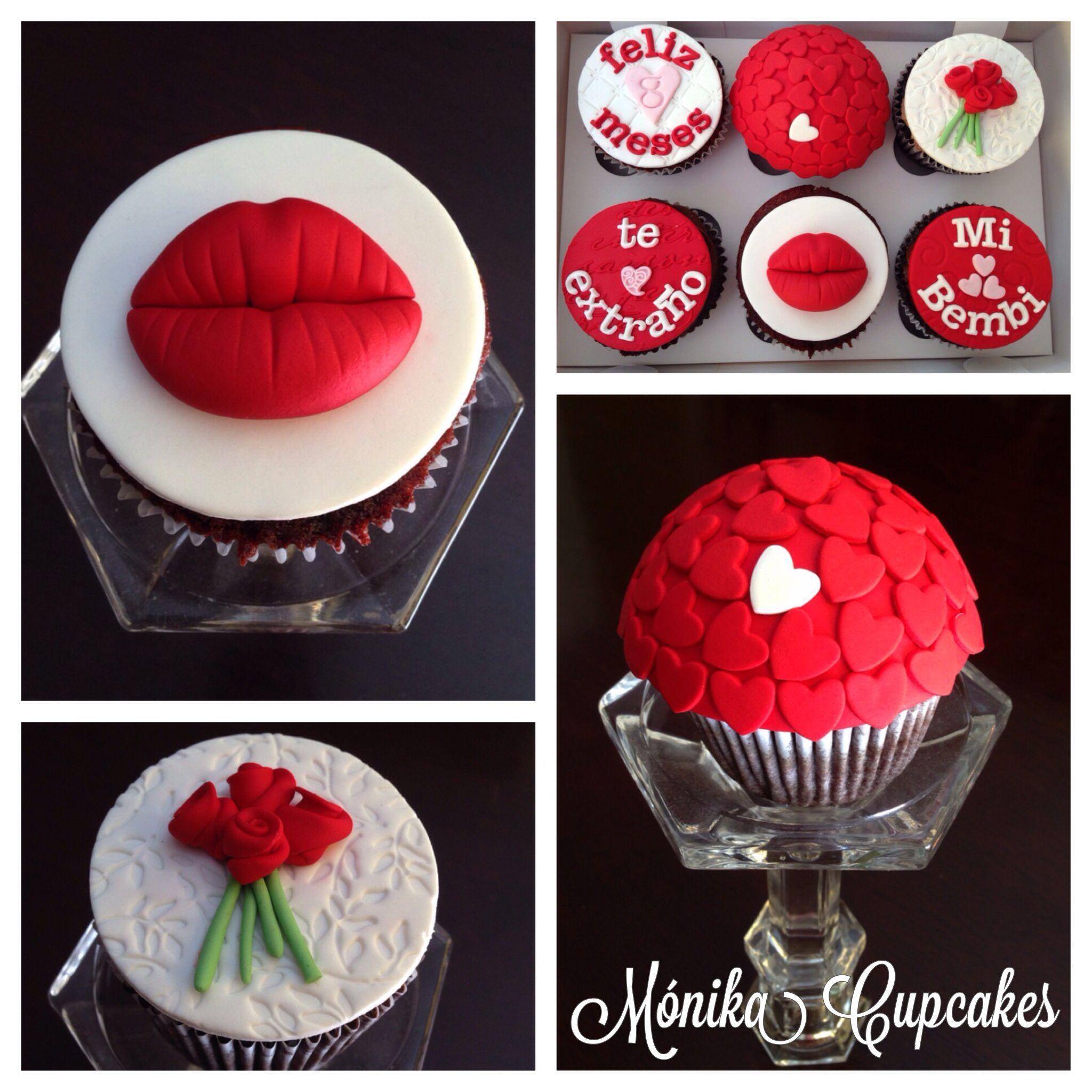 Habra algo mas romantico que estos cupcakes de amor?