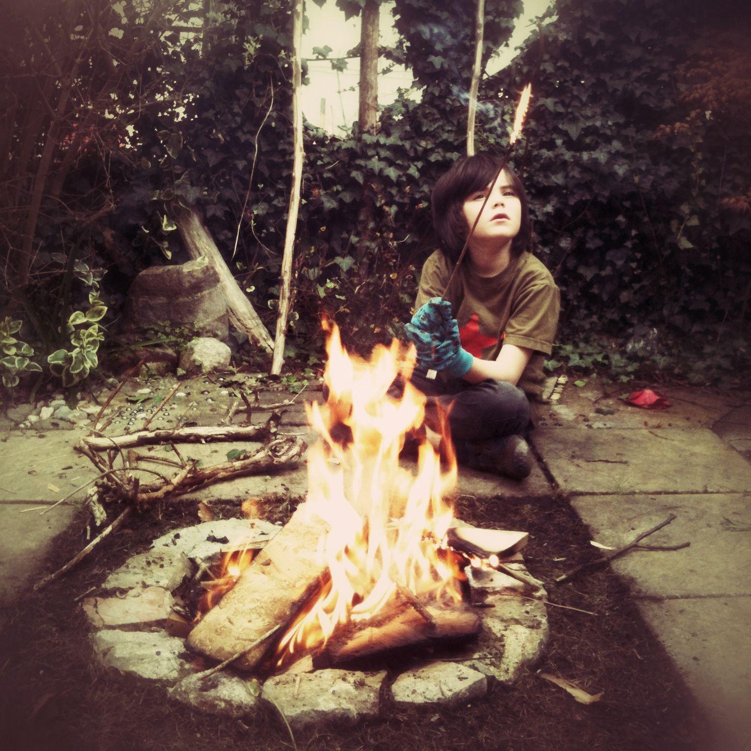 Firepit in front garden