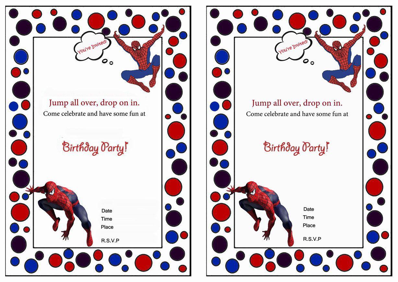 Spiderman Birthday Invitations | Birthday invitation | Pinterest ...