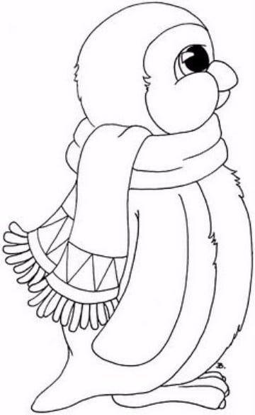dibujos de pinguinos para colorear e imprimir | manualidades ...