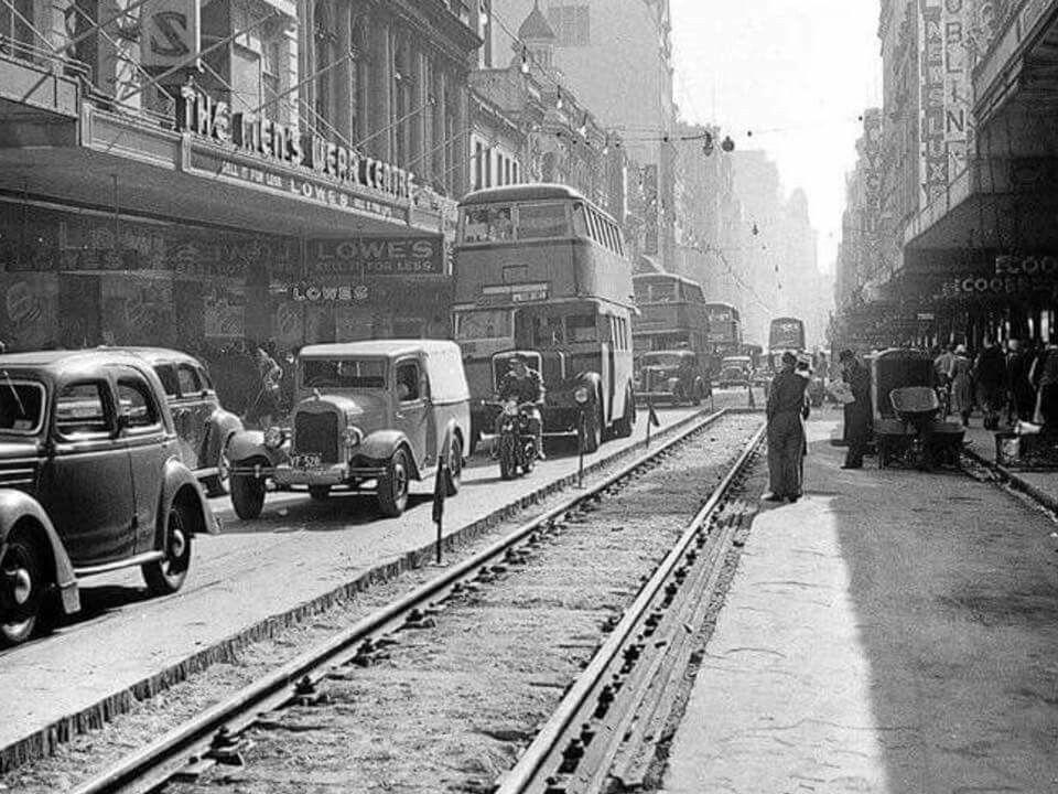 Pitt St,Sydney in 1949. •Fairfax Archives• | Australia history ...