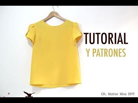 DIY Costura Blusa manga amapola para mujer (patrones gratis ...