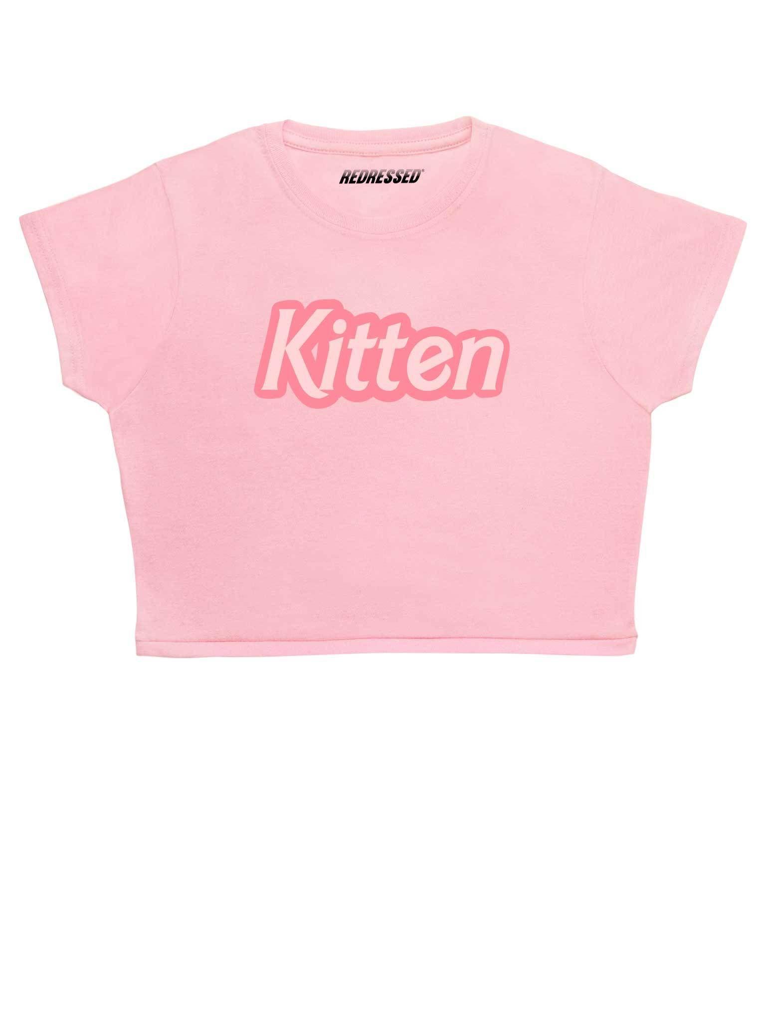 Kitten Crop Top Redressed Crop Tops T Shirt Crop Top Tops