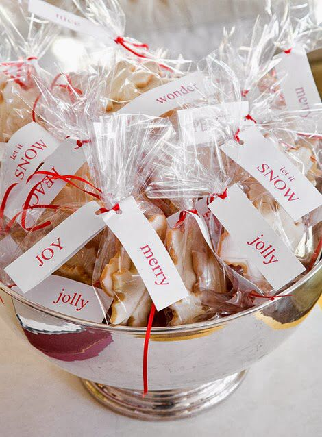 A Silver Bowl Filled With Cookies As Favors For Party Guests Perhaps Holiday Is In Order