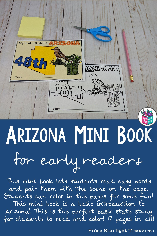 Arizona Mini Book For Early Readers In 2020 Mini Books Primary Social Studies Kindergarten Resources