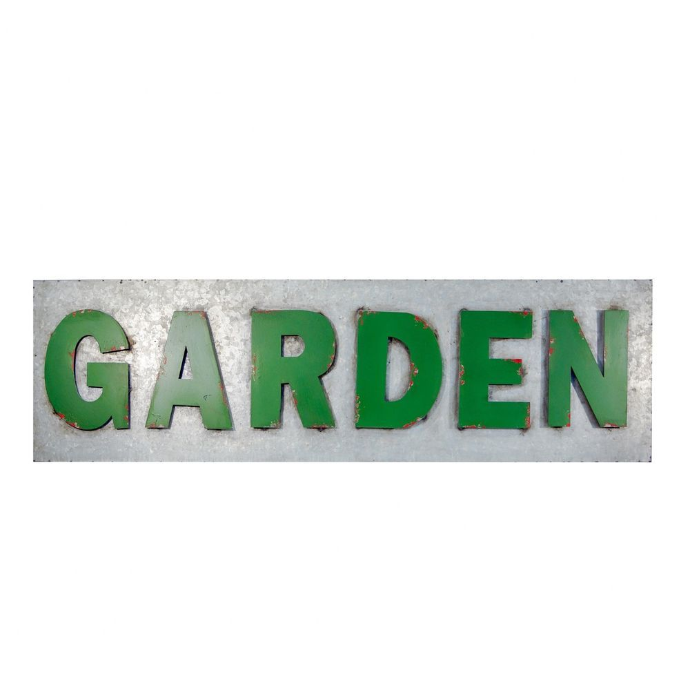 Sign Galvanized Metal With Rustic Green