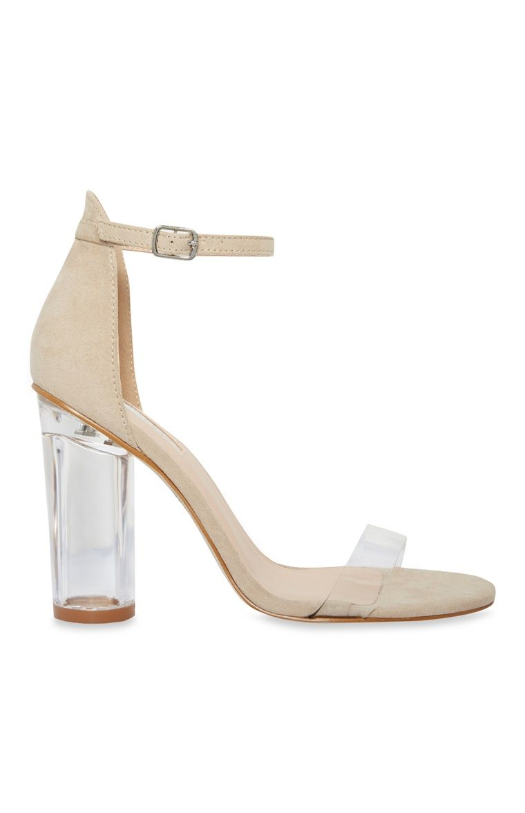 c9d1a1bf42a Primark - Nude Clear Heel Sandal