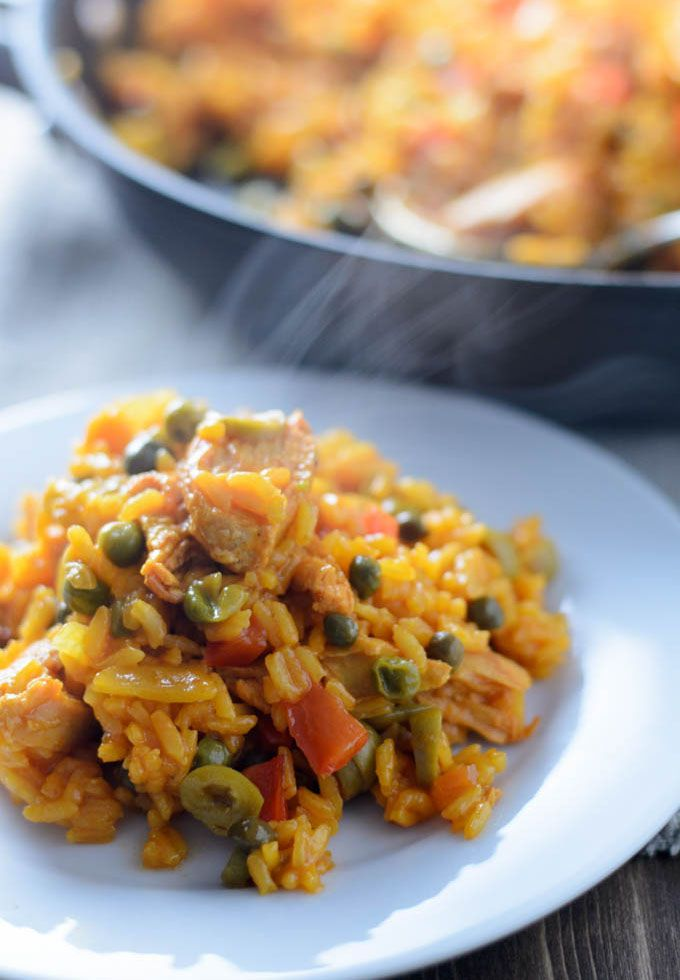 Easy arroz con pollo is a latin american chicken and rice dish with easy arroz con pollo is a latin american chicken and rice dish with olives capers garlic and sazn with azafrn pantry full of recipes forumfinder Image collections