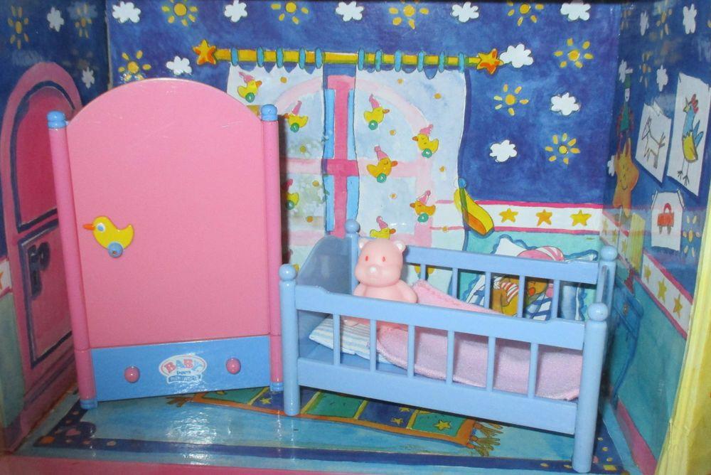 Fantastisch Baby Born Mini Schlafzimmer Bett Schrank Bettzeug Teddybär Für Puppenhaus