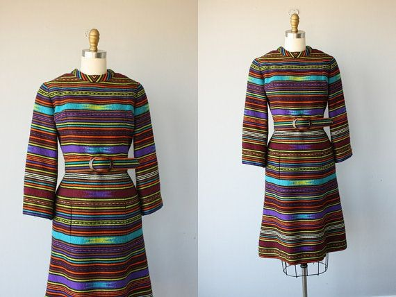 60s dress / 1960s dress / southwestern by CustardHeartVintage, $138.00