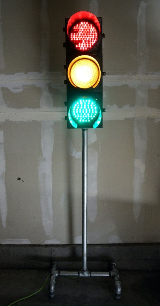 Traffic Light Floor Lamp Industrial Upcycled Industrial Piping Layaway Option Girls Room Industrial Floor Lamps Industrial Pipe Floor Lamp