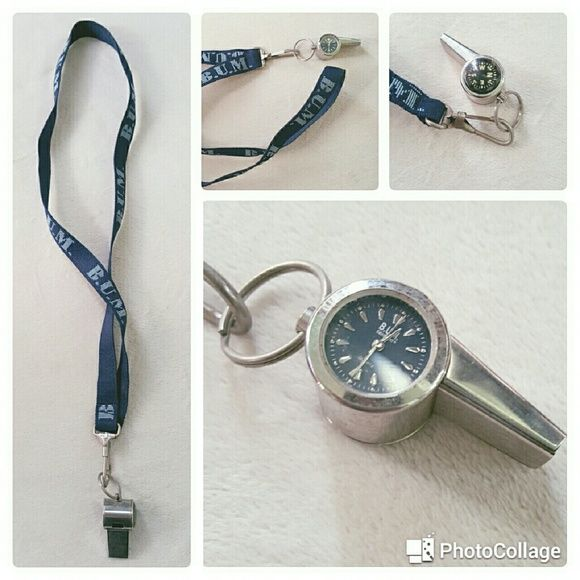 "Blue ""Bum"" Brand White with Navi & Clock Blue ""Bum"" Brand White with Navi & Clock. Needs battery. Great for Coaches!!! bum Accessories Watches"