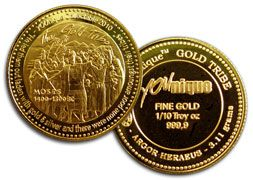 Save For Gold 1 10 Oz 3 11 Gram Moses Collectible From Us 25 00 Gold And Silver Coins