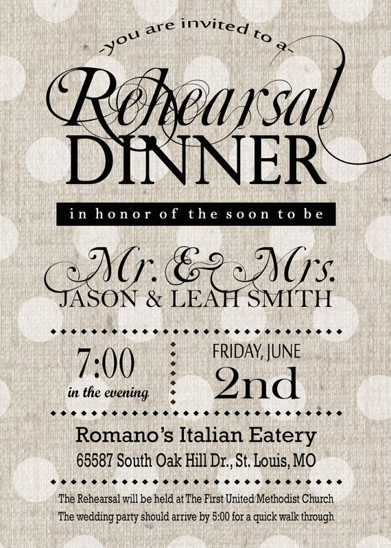 Rehearsal Dinner Invitations Rustic Black and Gray Linen Wedding – Rehearsal Party Invitations