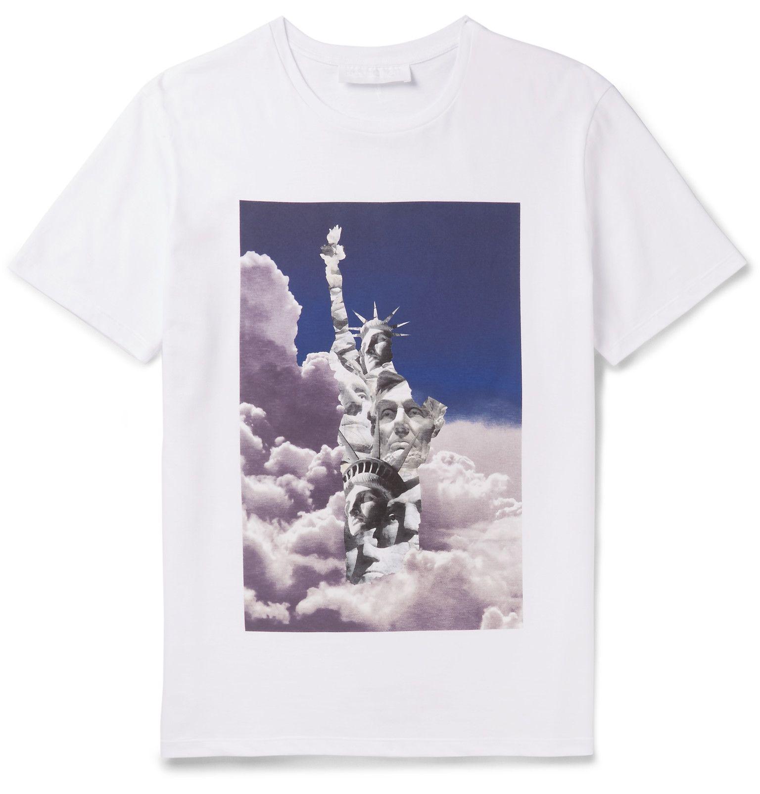 4b7df0e2b07 Neil Barrett - Printed Cotton-Jersey T-Shirt