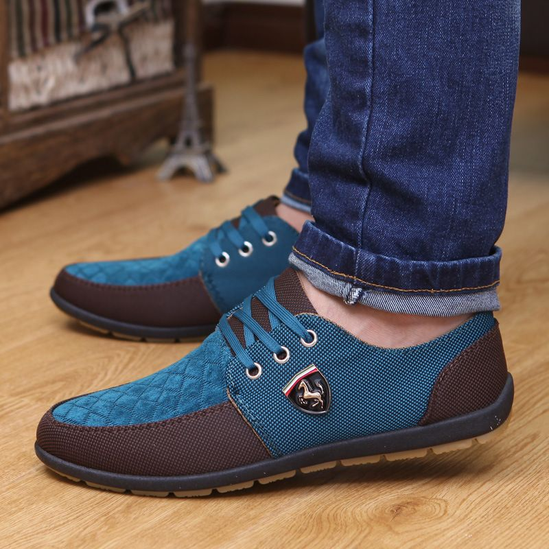 Shoes Mens Casual Leather Shoes Athletic Shoes Trainers Shoes Lightweight Driving Shoes (Color : B Size : 39)