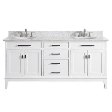 "Avanity+Madison+72""+Double+Bathroom+Vanity+-+White"